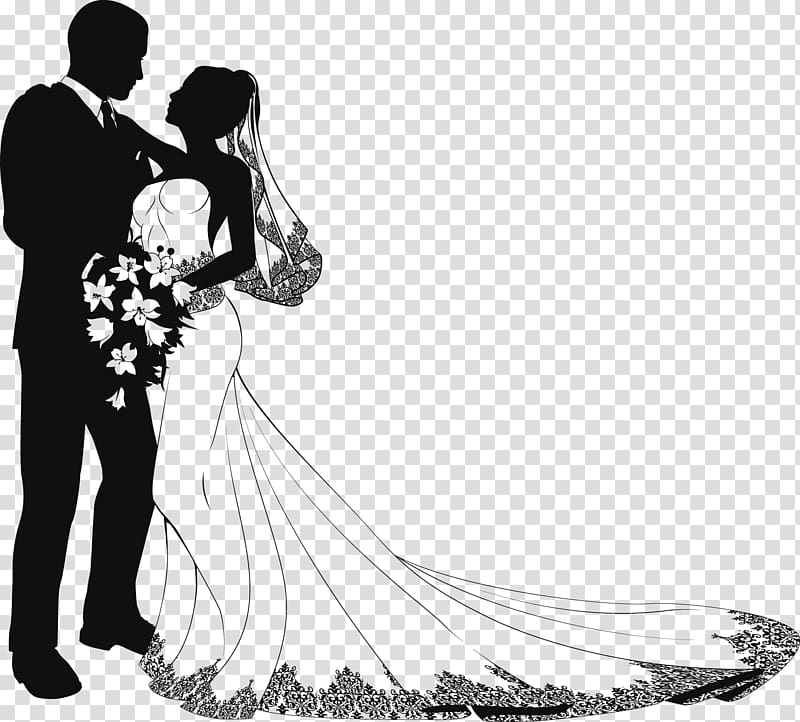 Wedding transparent background PNG cliparts free download.