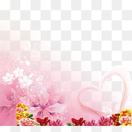 2019 的 Transparent Decorative Flowers Background, Decorative.