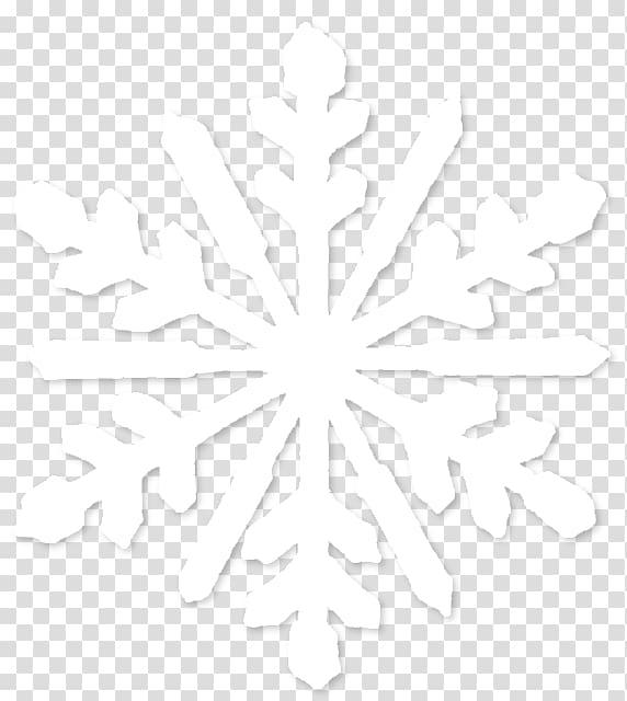 Symmetry Line Point Black and white Pattern, Snowflake.