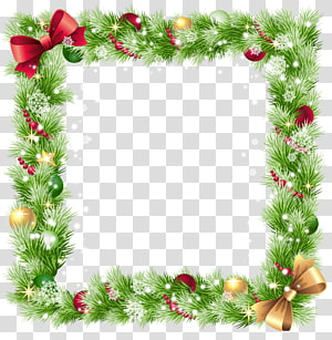 Christmas Frame transparent background PNG cliparts free.