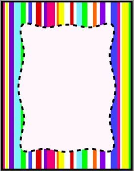 Colorful Stripes Frames, Borders, Background Clip Art.