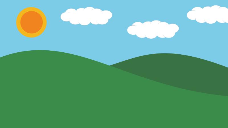 Landscape Backgrounds Clipart.