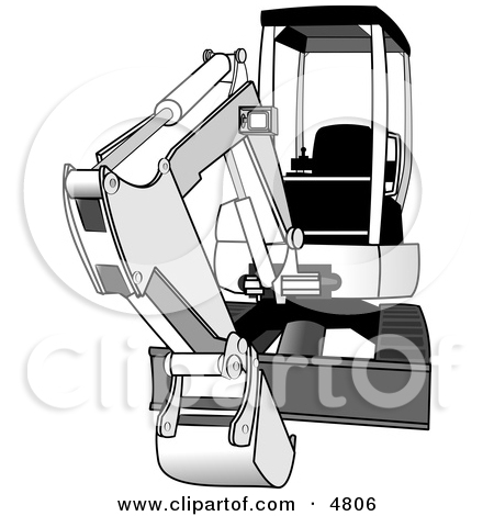 Bobcat Compact/Mini Hydraulic Excavator Clipart by Dennis Cox #4806.