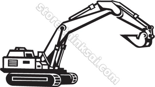Clip Art Excavator Bucket Clipart.