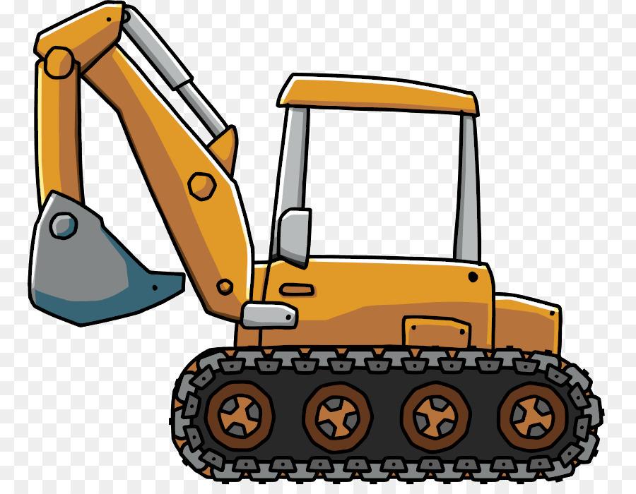 Backhoe Bulldozer png download.