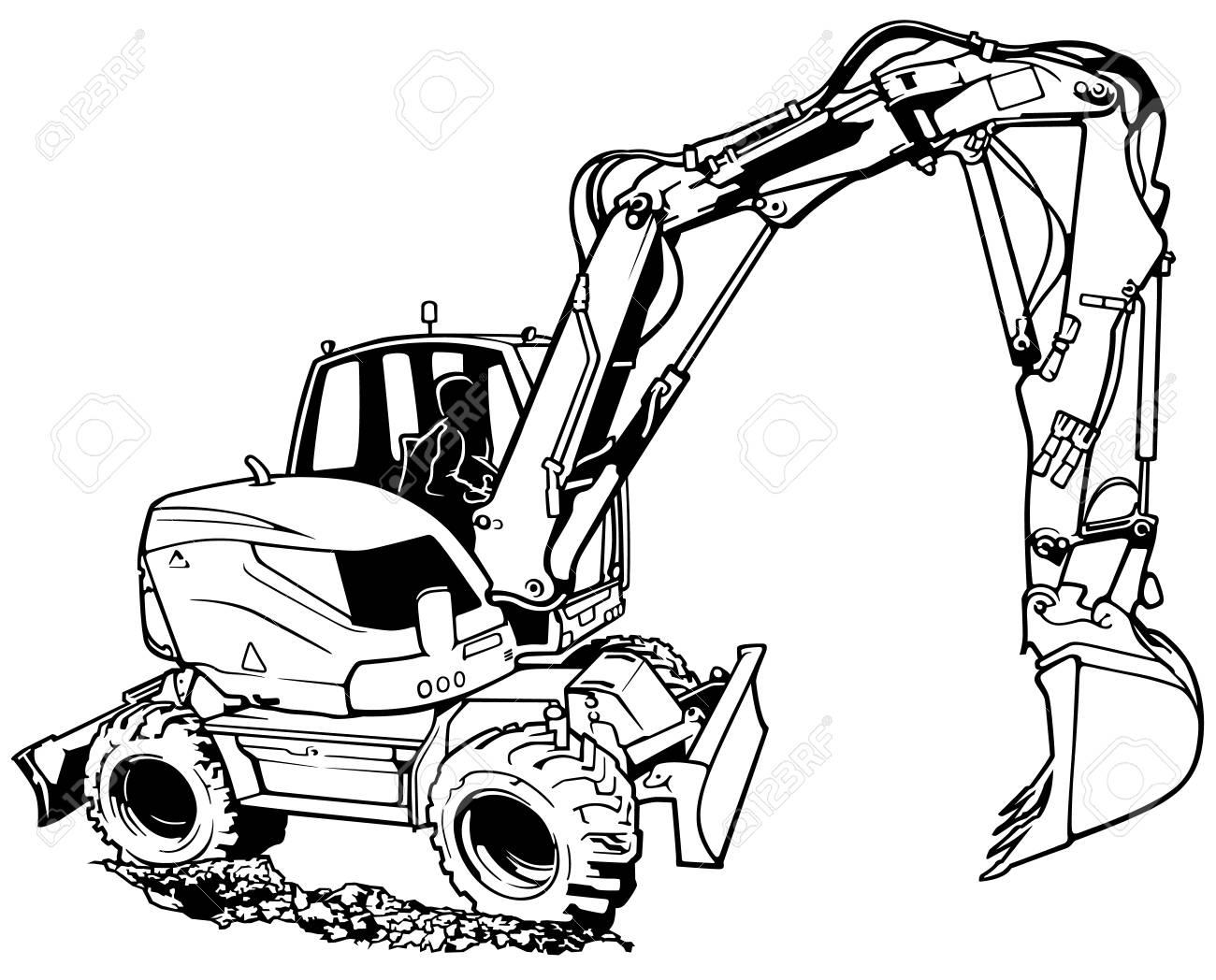 Excavator Machine in Work.