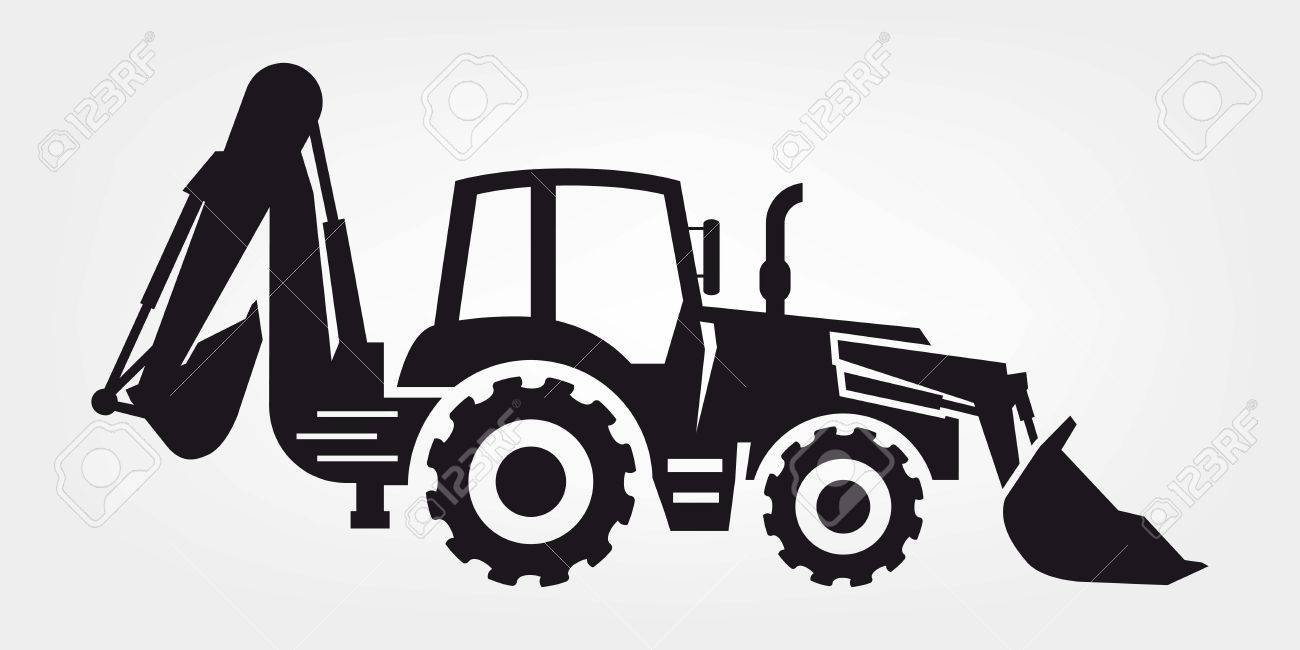 Black And White Backhoe Clipart (104+ images in Collection) Page 1.