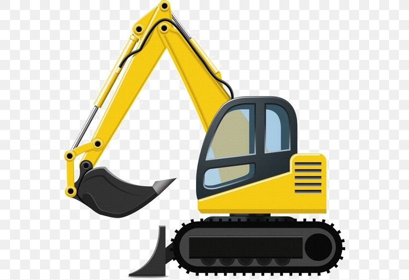 Caterpillar Inc. Excavator Backhoe Clip Art, PNG, 564x561px.