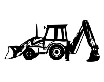 Backhoe clipart backhoe tractor, Backhoe backhoe tractor Transparent.