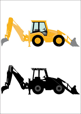 Backhoe machine free images at vector clip art image #22452.