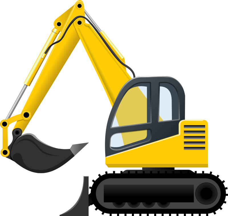 Excavator Clip Art Images Free For Commercial Use in 2019.