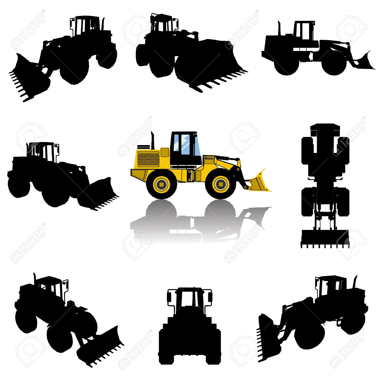 1,871 Backhoe Cliparts, Stock Vector And Royalty Free Backhoe.
