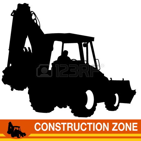 An Image Of A Backhoe Loader Construction Vehicle. Royalty Free.