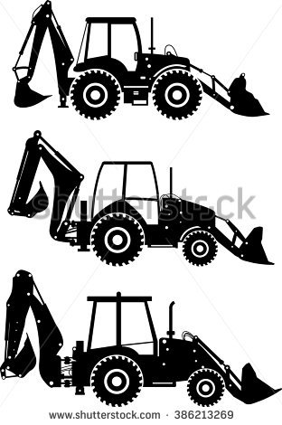 Backhoe Stock Images, Royalty.