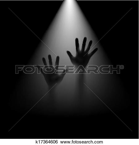 Clip Art of Hands in backlight. k17364606.