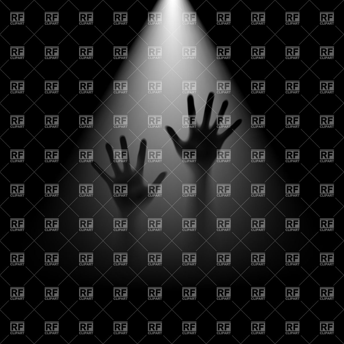 Two hands in backlight Vector Image #26983.