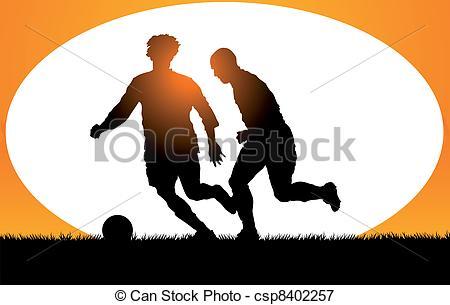 Vectors Illustration of Play soccer.