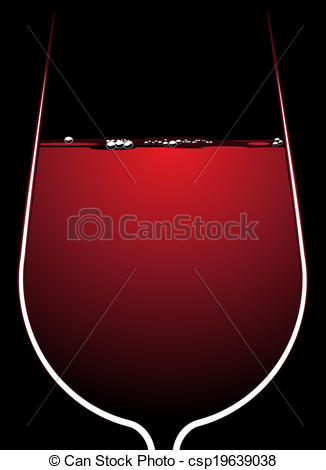 Vectors of Glass of red wine with backlighting.