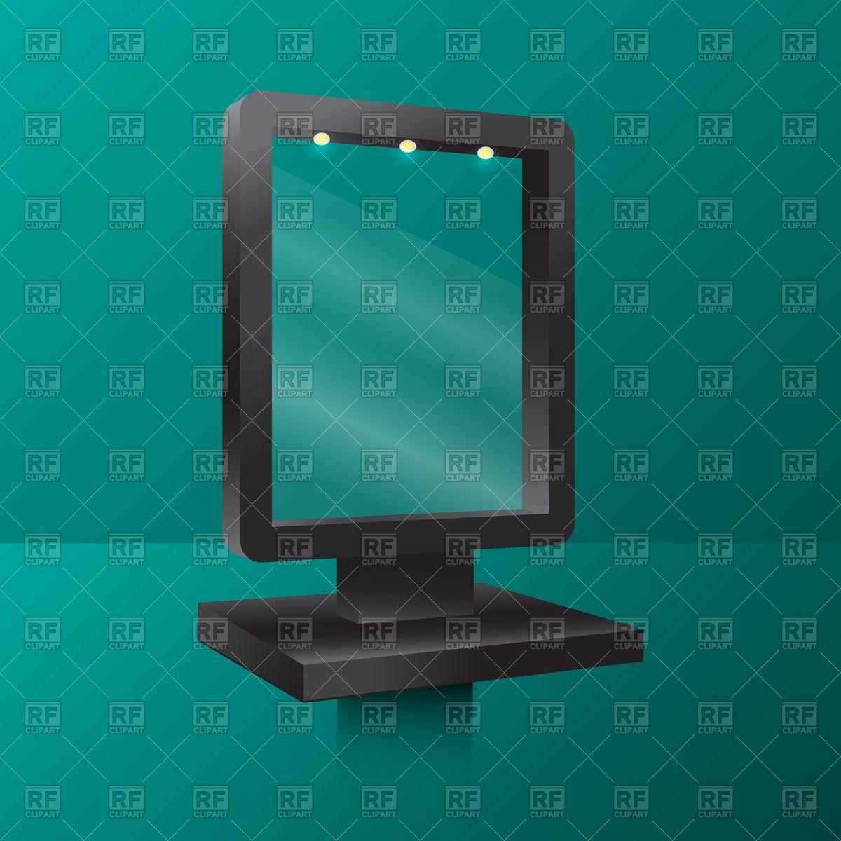 Backlit advertising light box Vector Image #43318.