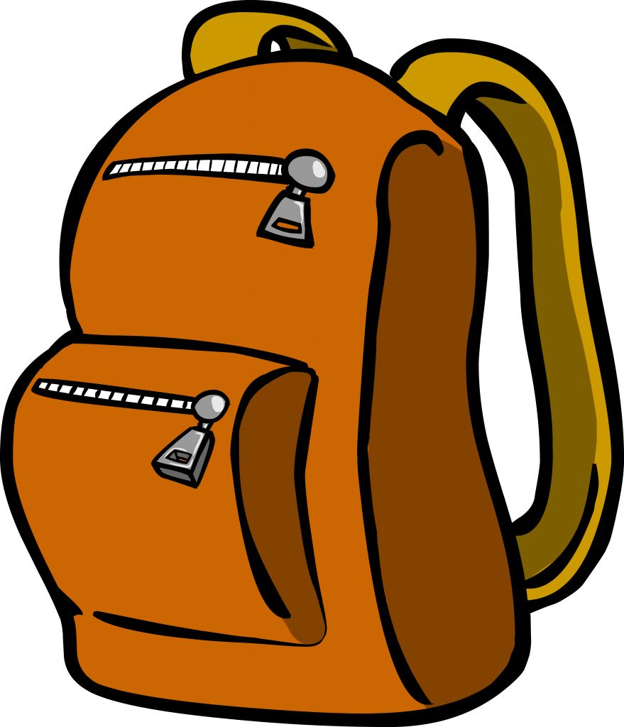 Backpack And Jacket Clipart.