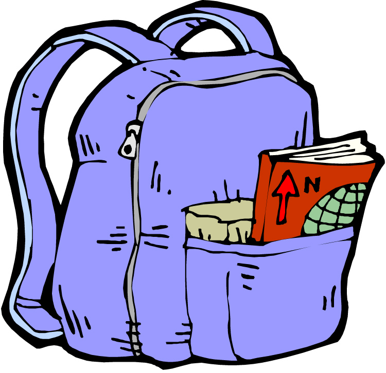 School Bag Backpack Clip Art.