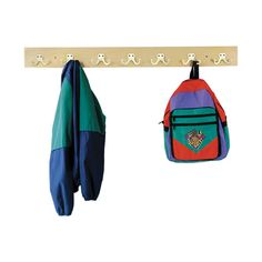 Backpack On Hook Clipart.