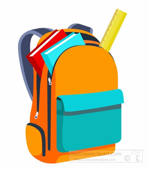Clipart backpack homework folder, Clipart backpack homework.