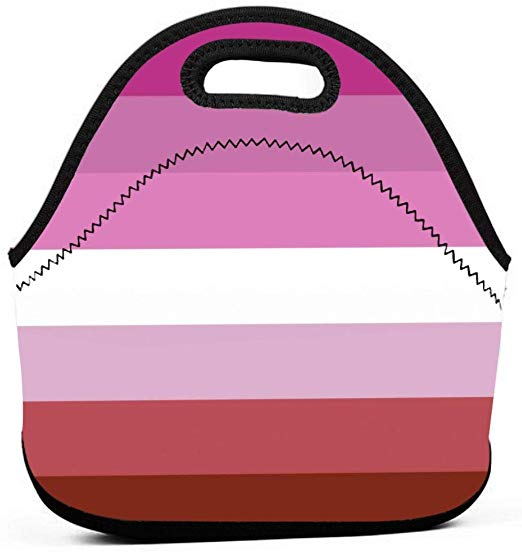 Amazon.com: LGBT Pride Rainbow Flag Neoprene Lunch Tote.