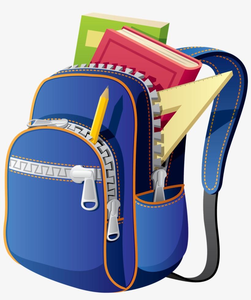 Backpack School Bag Clip Art.