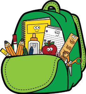 Backpack clipart school supply, Backpack school supply.
