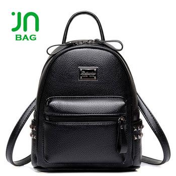 Jianuo Personalized Daily Backpack Brands Logo Custom Black Women Backpack.