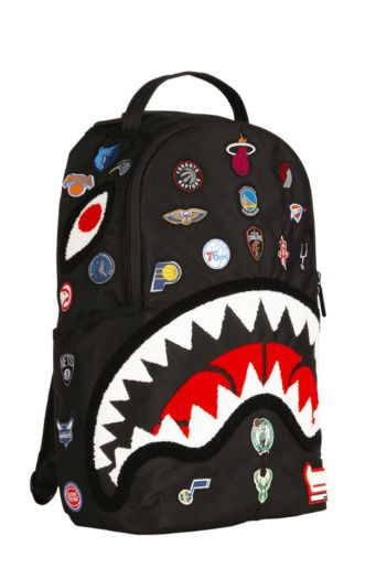 Sprayground NBA All Over Logo Backpack.