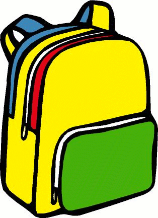 School Backpack Clipart.