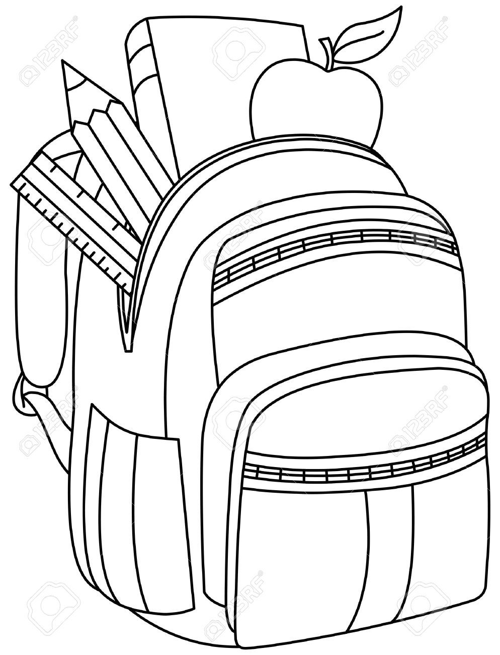 Backpack clipart black and white 6 » Clipart Portal.
