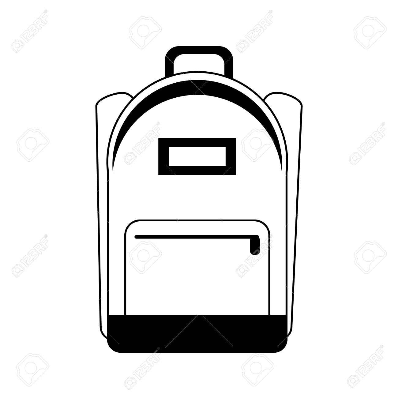 Black And White School Bag Clipart.