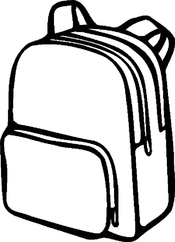 Backpack Clipart Black And White.