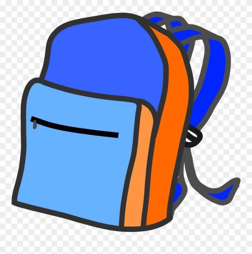 Transparent Background Backpack Clipart.