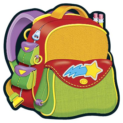 Backpack clipart image clip art image of a red backpack image #13467.