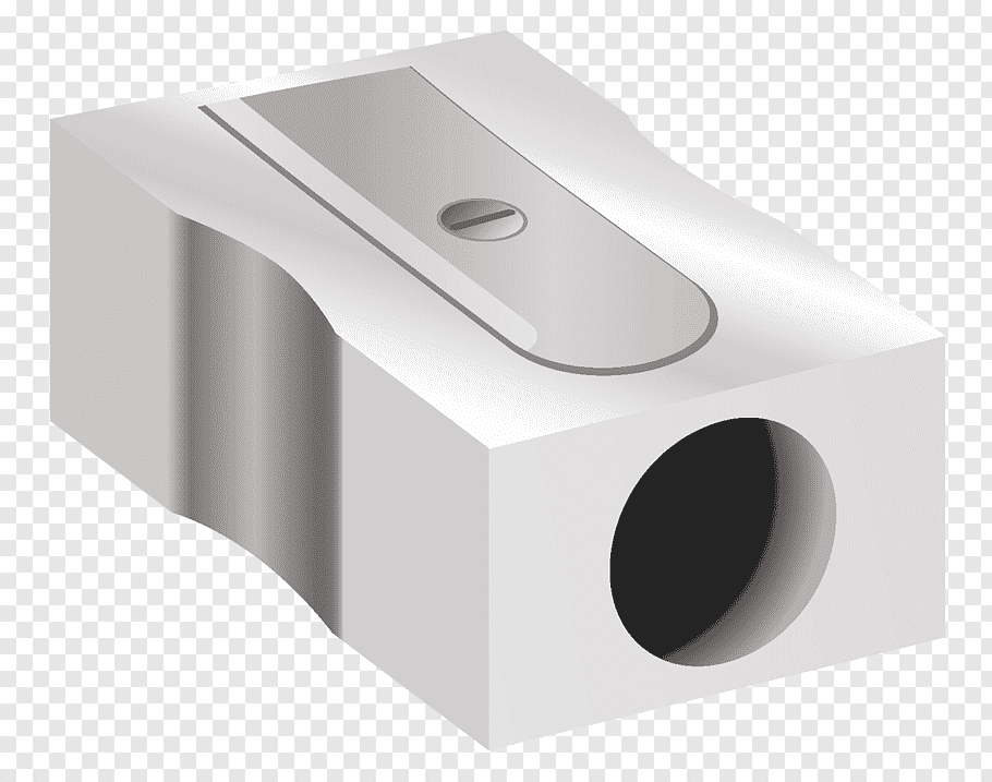Gray pencil sharpener illustration, Pencil sharpener, Pencil.