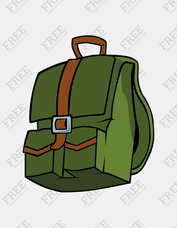 Free Graphic] Closed Backpack.