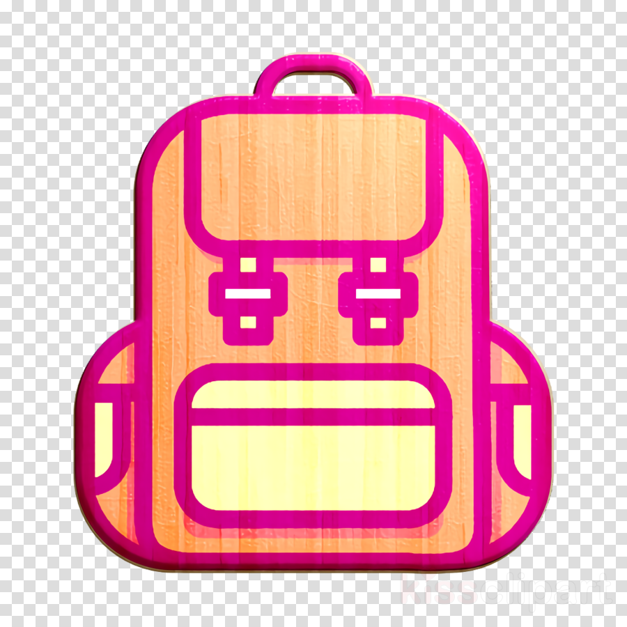 backpack icon bag icon outline icon clipart.