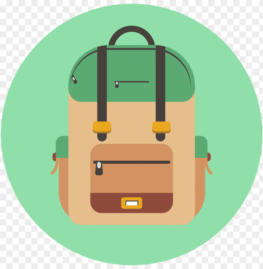 backpack icon banner black and white.