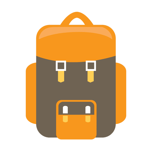 Backpack camping icon.