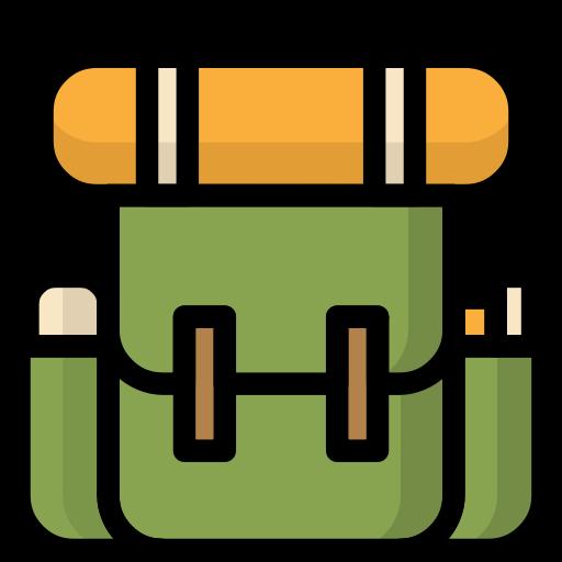 Backpack, bag, camping, travel, vacation icon.