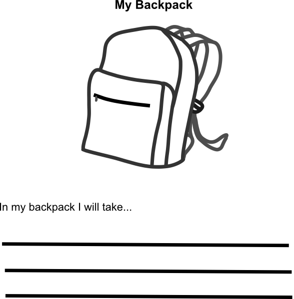 In My Backpack Clip Art at Clker.com.