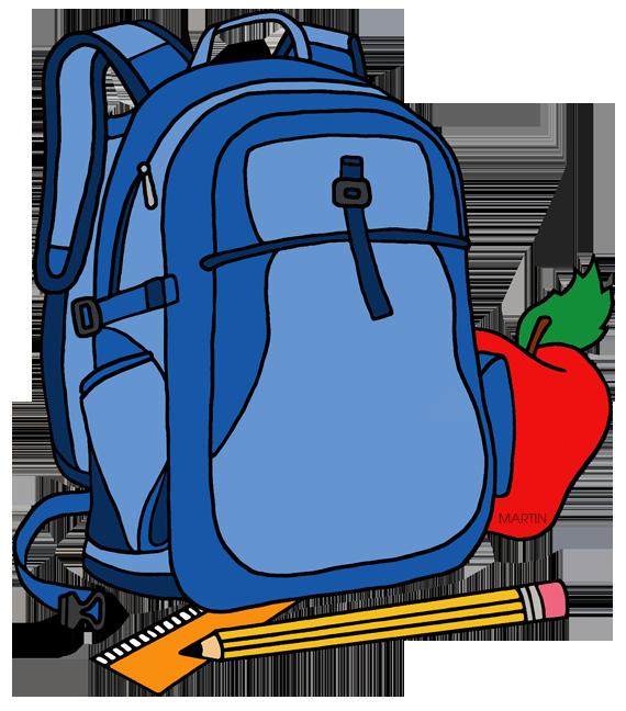 School clip art by phillip martin backpack.