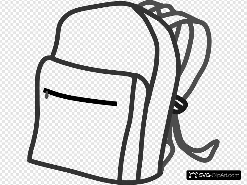Backpack Clip art, Icon and SVG.