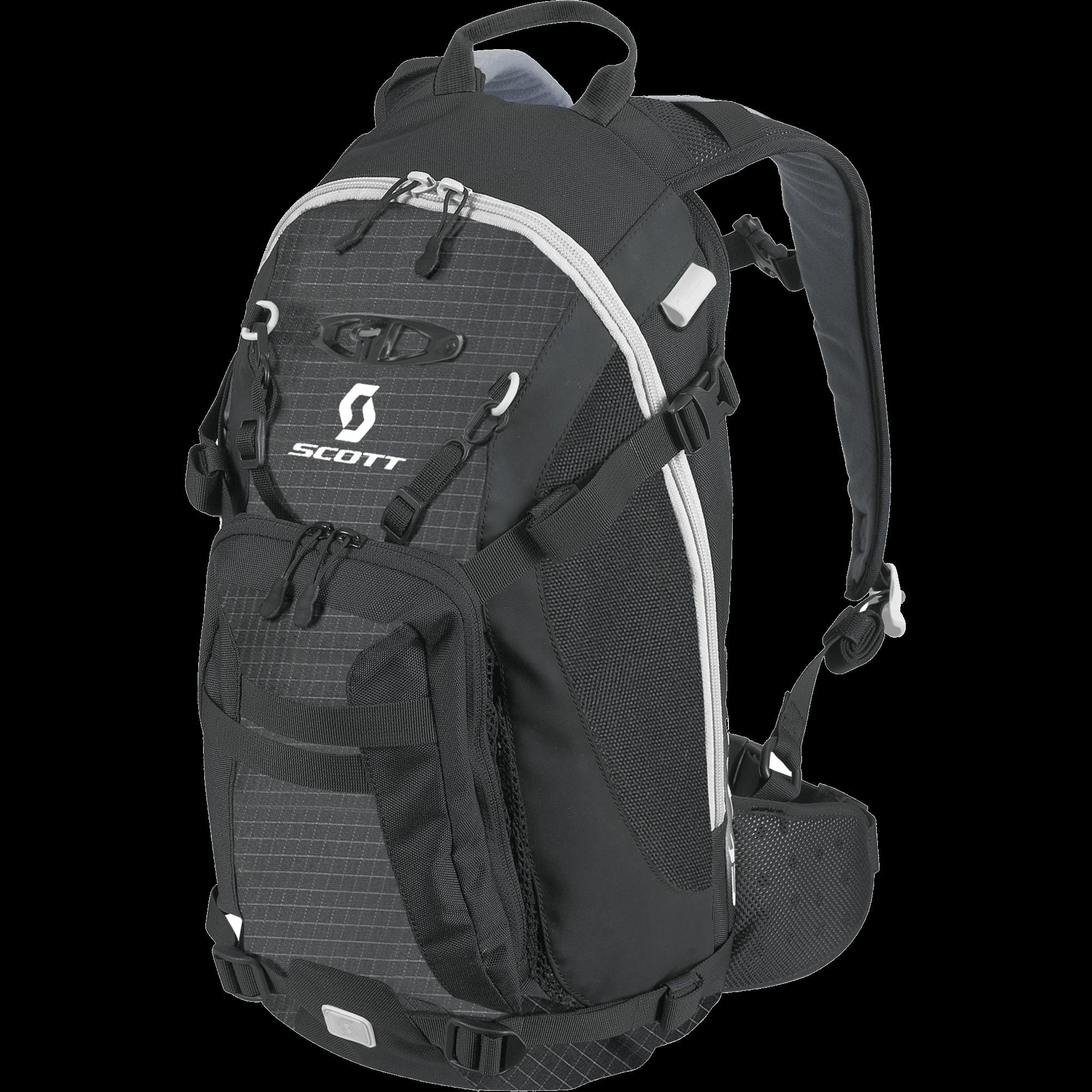Scott Black Backpack transparent PNG.