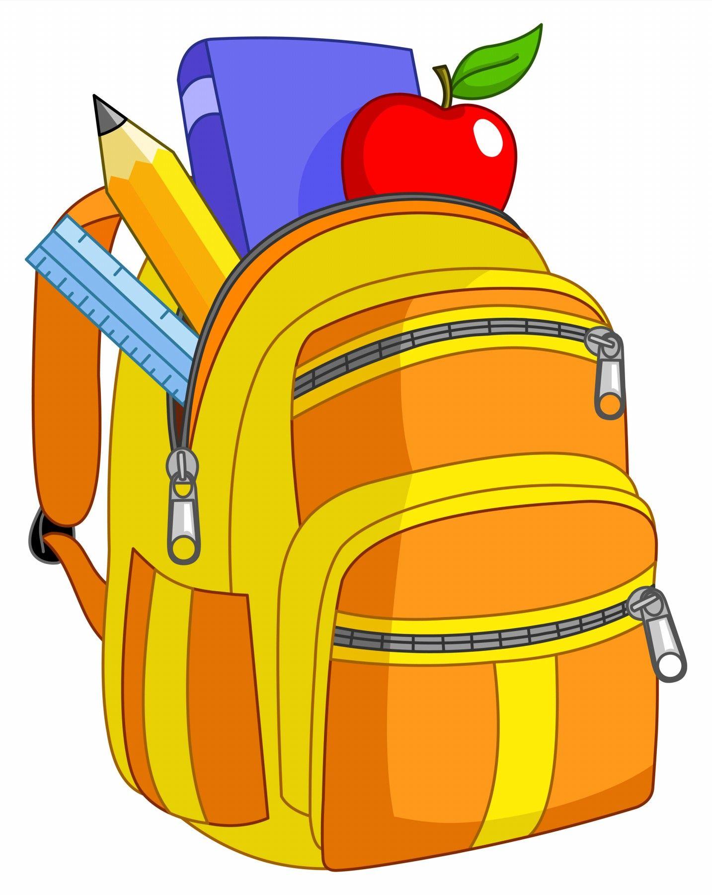 Cartoon school supplies clipart 3.