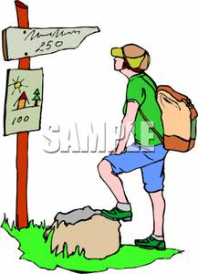 Backpacking clipart.